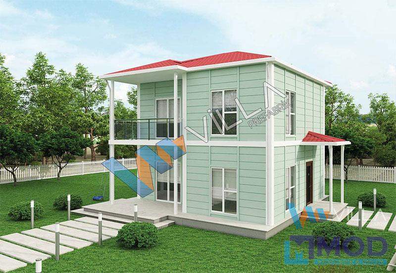 Prefabrik Ev 118 m² Çift Katlı
