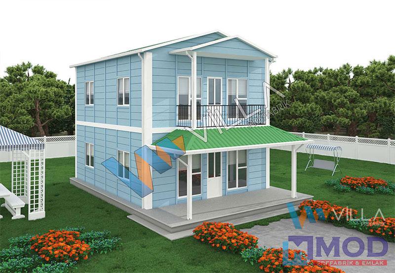 Prefabrik Ev 122 m² Çift Katlı