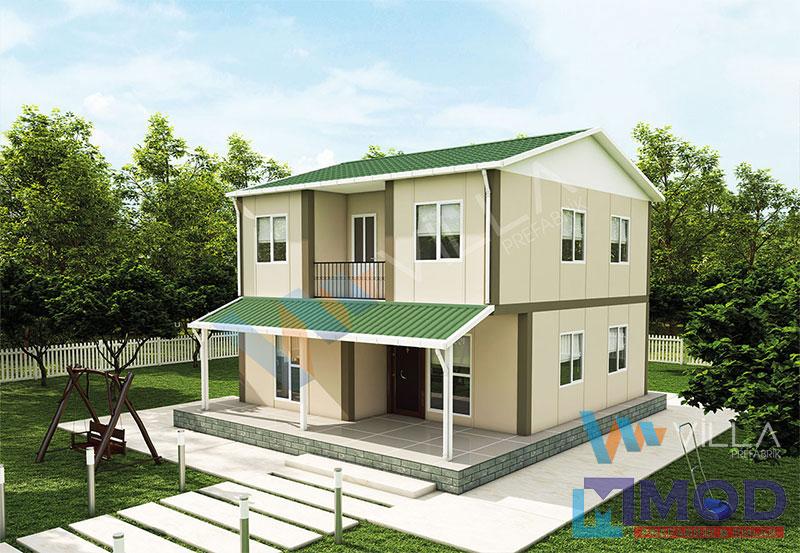 Prefabrik Ev 131 m² Çift Katlı