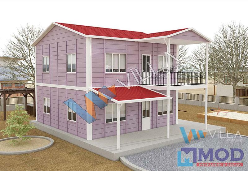 Prefabrik Ev 149 m² Çift Katlı