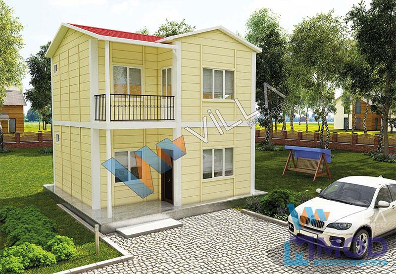 Prefabrik Ev 82 m² Çift Katlı