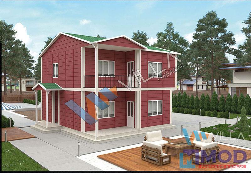 Prefabrik Ev 150 m² Çift Katlı
