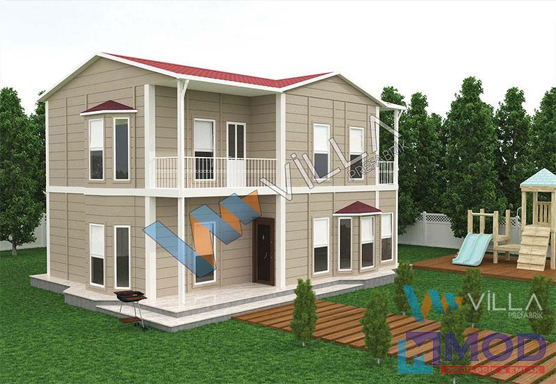 Prefabrik Ev 155 m² Çift Katlı