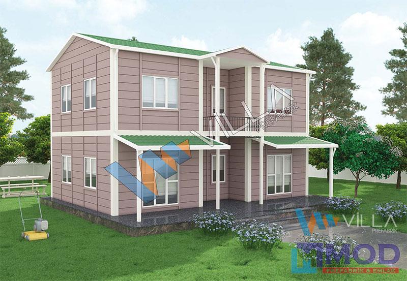 Prefabrik Ev 158 m² Çift Katlı