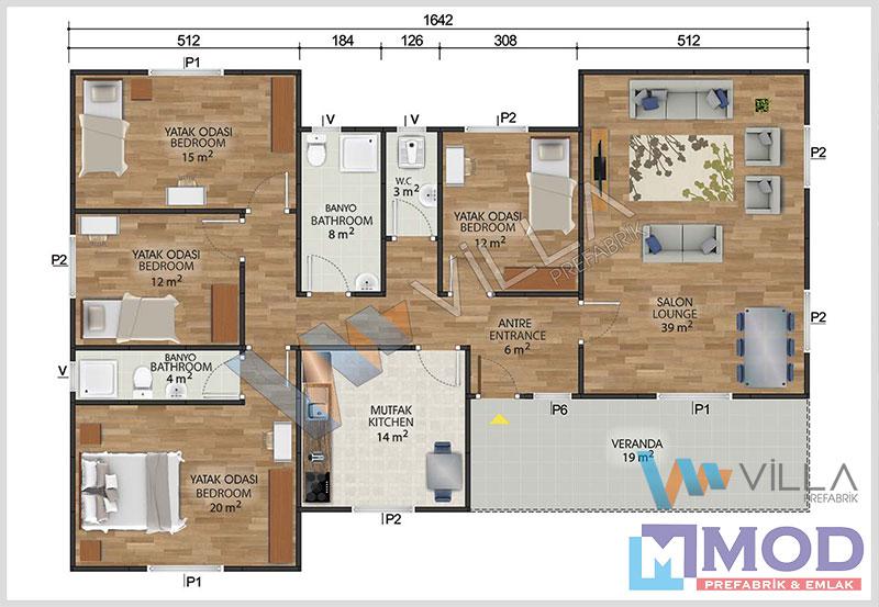 Prefabrik Ev 166 m²