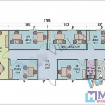 Prefabrik Ofis 114 m²