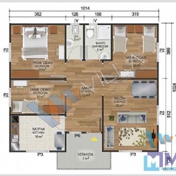 Prefabrik Ev 96 m²
