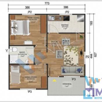 Prefabrik Ev 62 m²