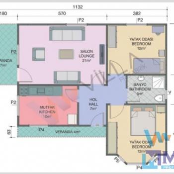 Prefabrik Ev 81 m²
