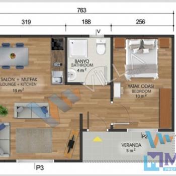 Prefabrik Ev 40 m²